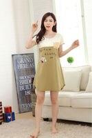 Free Shipping2016 New summer style Nightgown Nightdress pijama Ladies Sleepwear Women nightwear AZ538