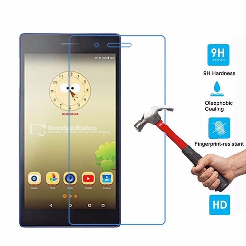 Tab3 7.0 730 730F 710I מגן מסך זכוכית מוגן עבור Lenovo Tab3 TAB3-730F TAB 3 חיוני 7 710I 710f סרט זכוכית
