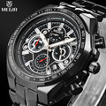 MEGIR Men's Casual Watch Chronograph & Luminous Engraved Dial