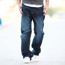 Новинка, Брендовые мужские брюки из лайкры и хлопка, свободный крой, Стрейчевые джинсы, джинсовые брюки, мужские байкерские модные брюки