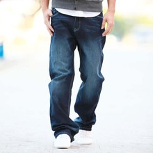 2019 Brand New Men's Lycra&Cotton Oversize Loose Fit Stretch Jeans Pants Denim T