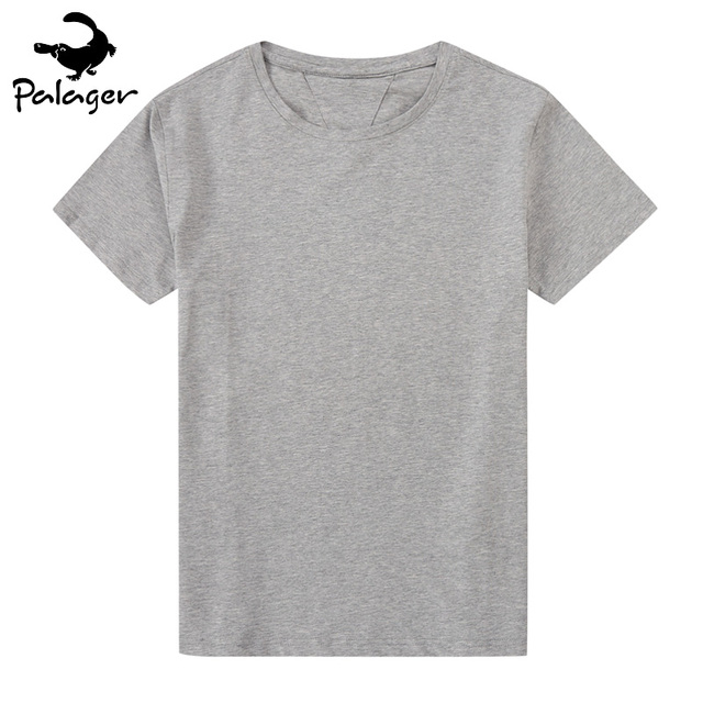 486340dc9ce49c Palager Men T-shirt Short Sleeve Solid Cotton Mens Tee Shirt Summer Jersey Plain  T Shirts O-Neck tshirt Black White Big Size 6XL
