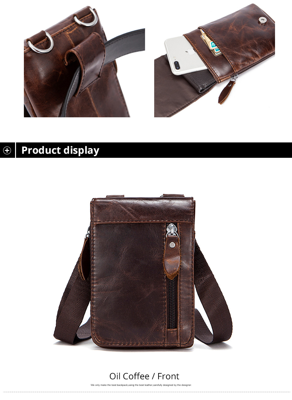 aaeb5ac8721 DANJUE Genuine Leather Belt Bag Waist Packs For Men Small Fanny Pack Phone  Pouch Bags Travel Male Waist men's Bag Leather Pouch