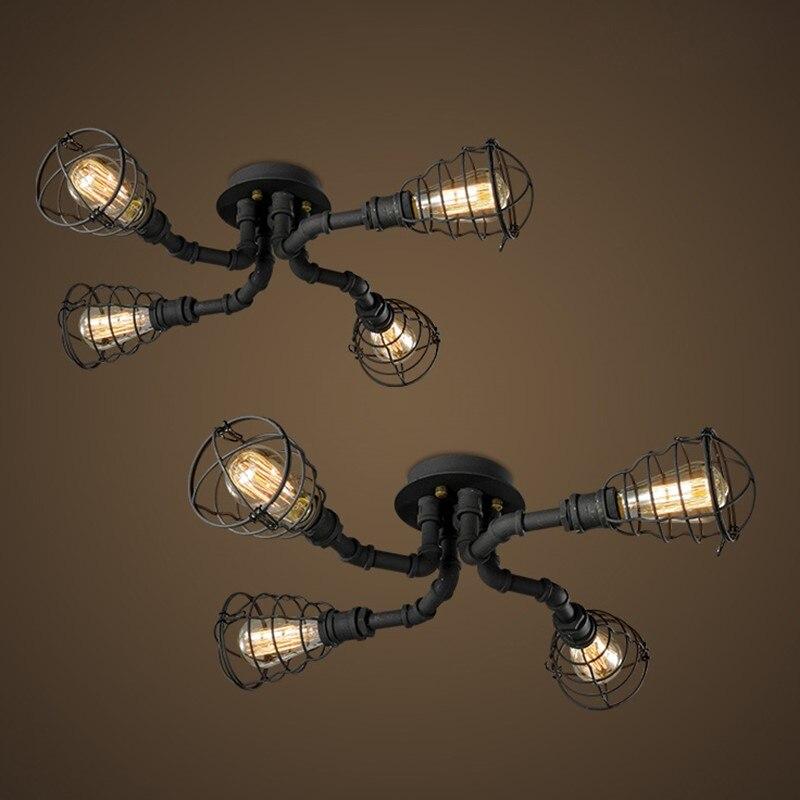 retro luzes de teto tubulacao ferro 04