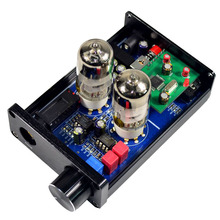 купить Headphone Amplifier HiFi 6J9 Vacuum Tube Preamp Tone Control Stereo Preamplifier PCM2706 USB DAC Decoder по цене 2736.81 рублей