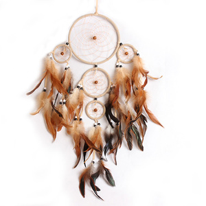 Handmade Dream Catcher Net With Feathers for Car Wall Hanging Decoration Craft Gift Room Decor Dreamcatcher