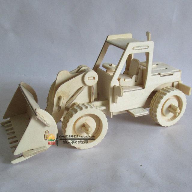 Дети подарок деревянный 3 D пазлы детские игрушки собраны экскаватор деревянная модель головоломка игрушка