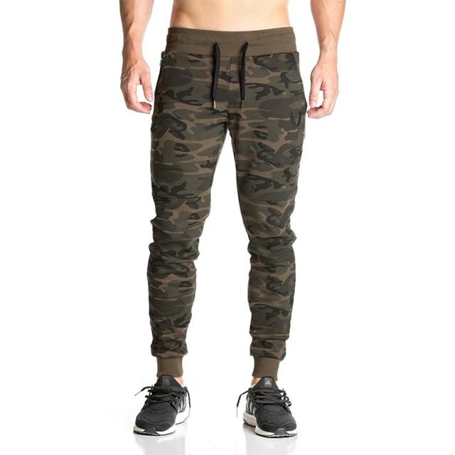 f0cbd4fcdf301 HanHent spring and autumn fashion design camo pants men polyester slim  stretch drawstring side pocket pants black military style