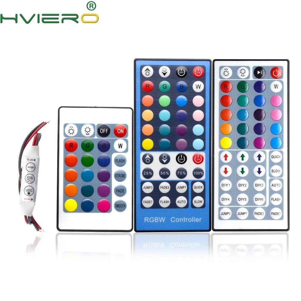 RGB LED Lights 24Keys 44Keys IR Controller Remote Dimmer Input DC 12V 3-5A For RGB SMD 3528 5050 2835 LED Strip Holiday Lighting