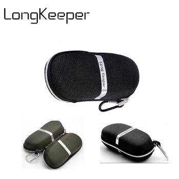Portable Fiber Cover Sunglasses Black Brand Case Bags Reading Glasses For Women Men Glasses Box With Zipper Eyewear Accessories