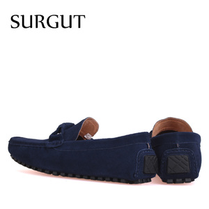 Image 2 - SURGUT Brand New four Season Men Fashion Shoes Slip On Flat Shoes Men Casual Shoes Comfortable Genuine Leather Men Loafers
