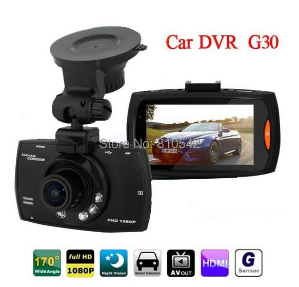 Full HD 1080P Car Camera Recorder G30 2.7 inch Dvr 170 Degree Wide Angle car recorder - Shenzhen Jrecam technolog Co.,LTD store