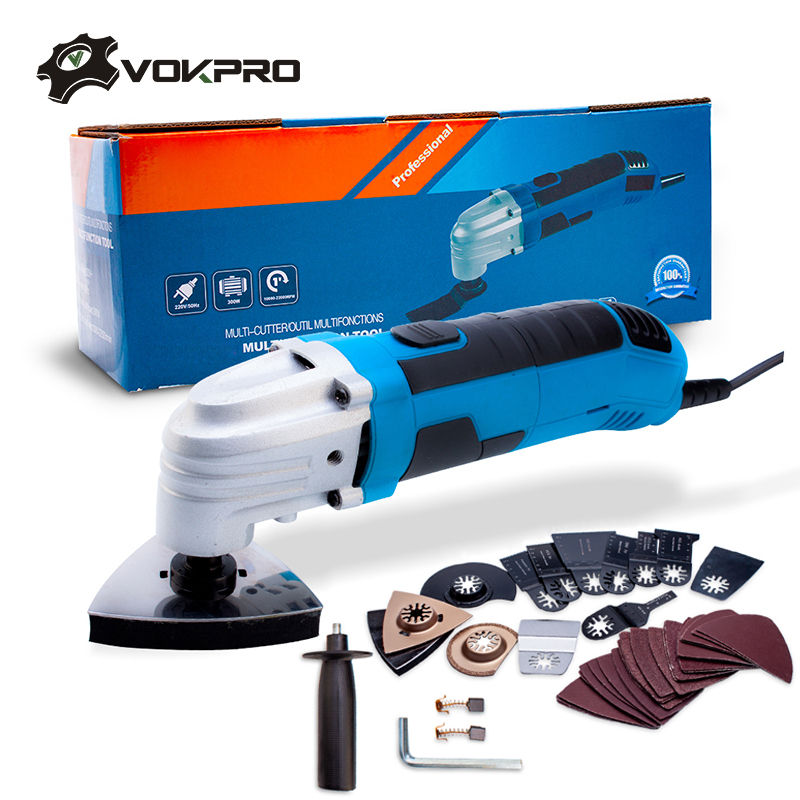 220V Power Tools Multifunction Oscillating Tool Kit Variable Speed Electric 6 Speed Multi-Tool Electric Trimmer Saw Accessories