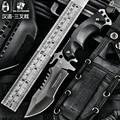 HX AO AR LIVRE faca de Sobrevivência do exército ao ar livre ferramentas de alta dureza facas retas ferramenta essencial para a auto-defesa faca de aço frio