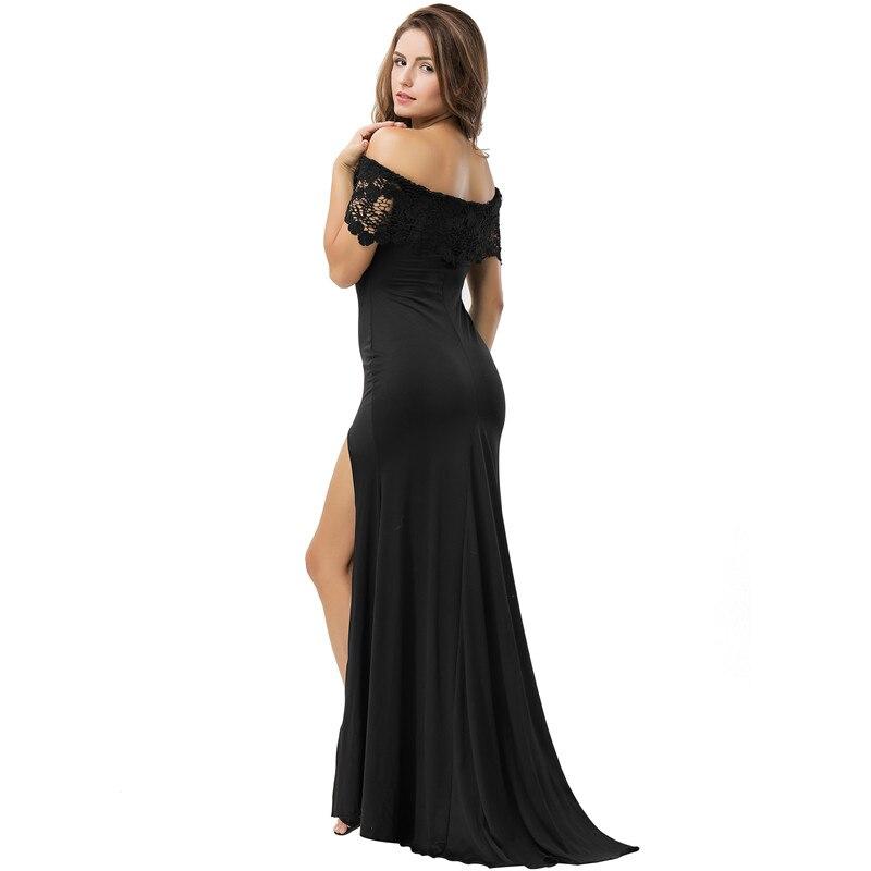 cf8090fd5b Comeondear Vestidos Sexys Night Club Moda Feminina 2018 Ropa Mujer Talla  Grande VB1070 Off Shoulder Black Lace Party Maxi Dress