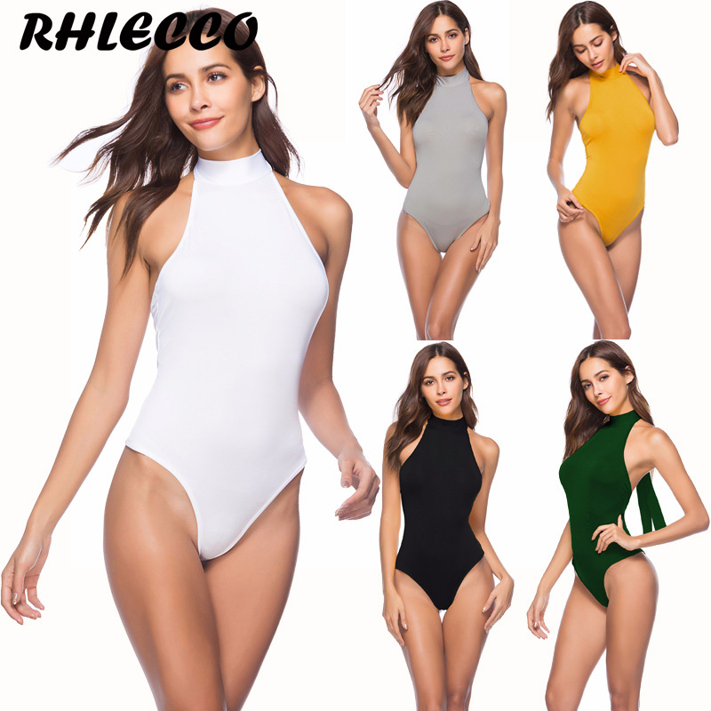 White Yellow Red Sexy Bodysuit Bandage Backless Beach Rompers Womens Jumpsuit Skinny Overalls Bodycon Summer Tops for Women 2018