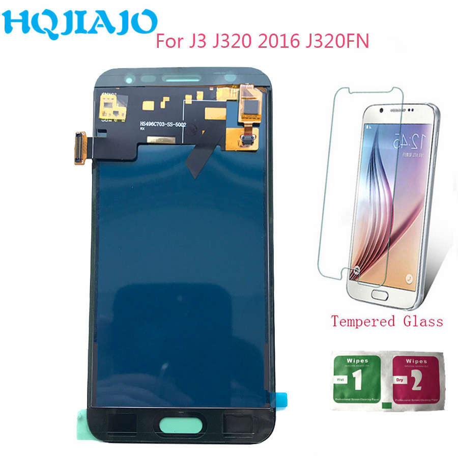 <font><b>LCD</b></font> Screen Für Samsung <font><b>J320</b></font> J3 2016 Einstellen <font><b>LCD</b></font> Display Touchscreen Digitizer Für Samsung Galaxy J3 J320F J320P J320FN montage image