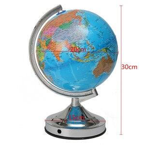 Image 2 - الأزرق المحيط العالم الأرض Geography خريطة الاتحاد الأوروبي التوصيل غلوب الدورية مضيئة للمنزل مدرسة مكتب مع ليلة ضوء سطح المكتب ديكور