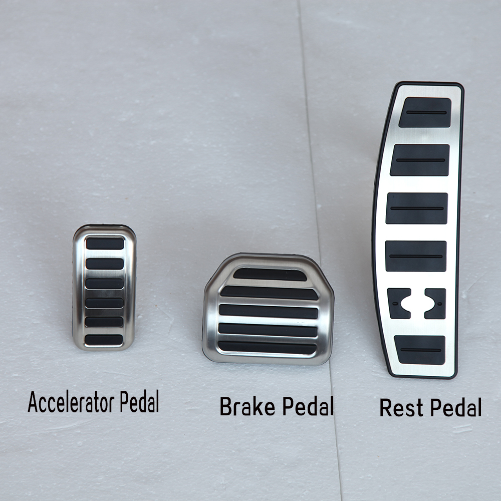 Car Accessories For Range Rover Sport Discovery 3/4 LR3/LR4 Fuel Brake Foot Rest pedal Plate Accelerator brake Cover Pads car styling for bmw new 1 2 3 4 series gt f30 f31 f34 touring 320i 328i accelerator brake foot rest pedal pads non slip covers
