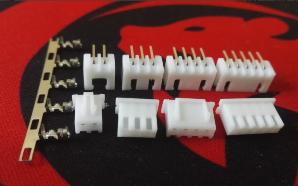 XH2.54 2.54mm 2 3 4 5PIN connectors Curved needle kits set:plug + socket + terminal 100set/1lot [vk] 553602 1 50 pin champ latch plug screw connectors