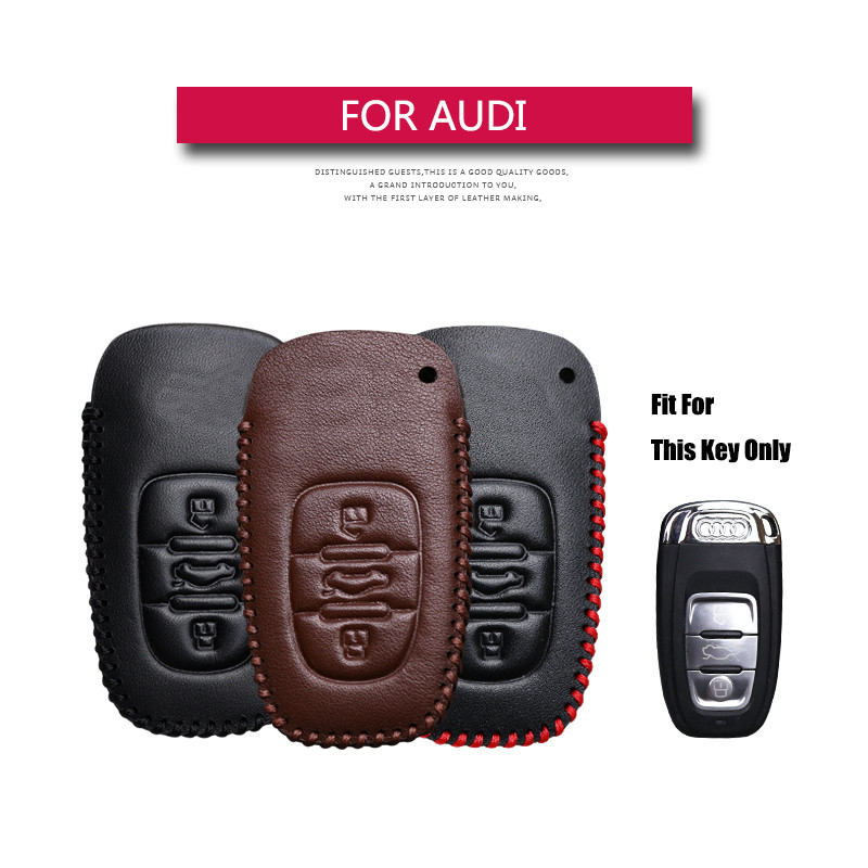 Kukakey leather car remote control chassis cover key case for Audi B6 B7 B8 A4 A5 A6 A7 A8 Q5 Q7 R8 S5 S6 S7 S8 SQ5