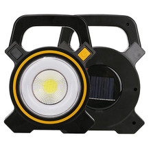 PANYUE Solar Work Light COB LED Outdoor Portable Lantern High Power USB Rechargeable Camping Lamp Night Fishing