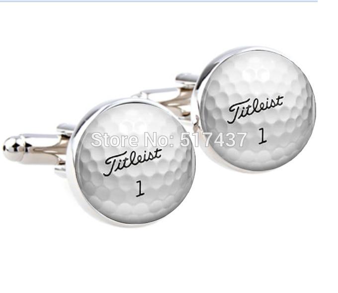 CF-0088 Wholesale Wedding Cufflinks For Mens Golf Ball Cufflinks Round Glass Hand Made CuffLinks Men Cuff Links