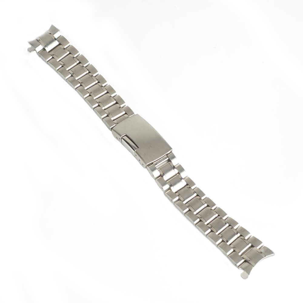 18mm 20mm 22mm 24mm Stainless Steel Strap Silver Wrist Watch Bracelet With Folding Clasp Hot Men Women Metal Watchband