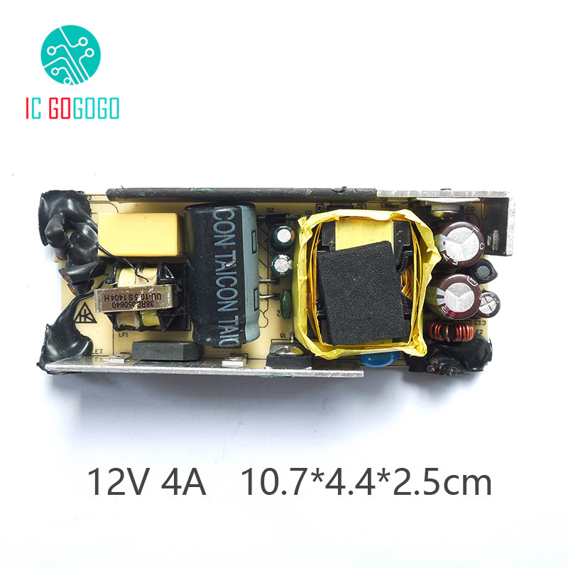 US $4 46 5% OFF|AC DC 12V 4A Switching Power Supply Module DC Voltage  Regulator Circuit Bare Board For Monitor and LCD 4000MA 100 240V 50/60HZ-in