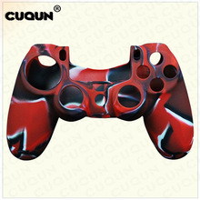 10PCs Camouflage Pattern Silicone Protective Skin Cover Case for PS4 controller Gamepad Joystick