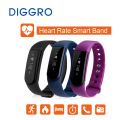 Pop Diggro ID101 Heart Rate Smart Bracelet IP67 Waterproof Sport Fitness Tracker Call/SMS Reminder Sleep Monitor For Andriod IOS