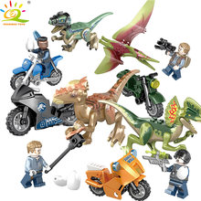 138pcs Dinosaurs world indominus rex Building Blocks Compatible Legoingly Jurassic Bricks set Educational Toys for children gift(China)