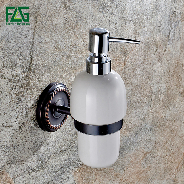 Wall Mounted Liquid Soap Dispenser With Oil Rubbed Bronze Ceramic Container Bottle Bathroom Products