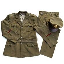 WW2 Китай KMT генсец американский стиль Униформа костюм Темный желтый