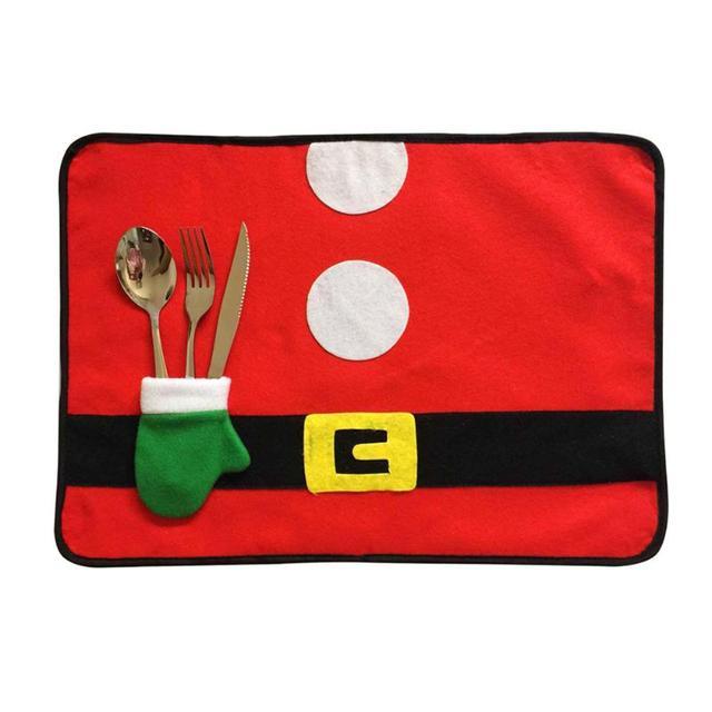 christmas santa claus belt buckle placemat costume pattern table mat christmas theme table mat decorations for - Santa Claus Belt