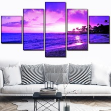 HD Print Painting Wall Art Canvas Living Room Modern Decorative Picture Poster 5 Piece Landscape