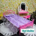 New Arrival discount Christmas gift (dressing table + bed+ pillow + bedsheet )accessories for barbie doll