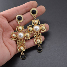 Baroque Court Retro Pearl Pendant  Earrings drop indian jewelry korean fashion boho earrings
