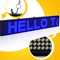 82CM 16 * 160 pixel P5 SMD CE approved programmable advertising led sign screen with Blue color and support multi-langua