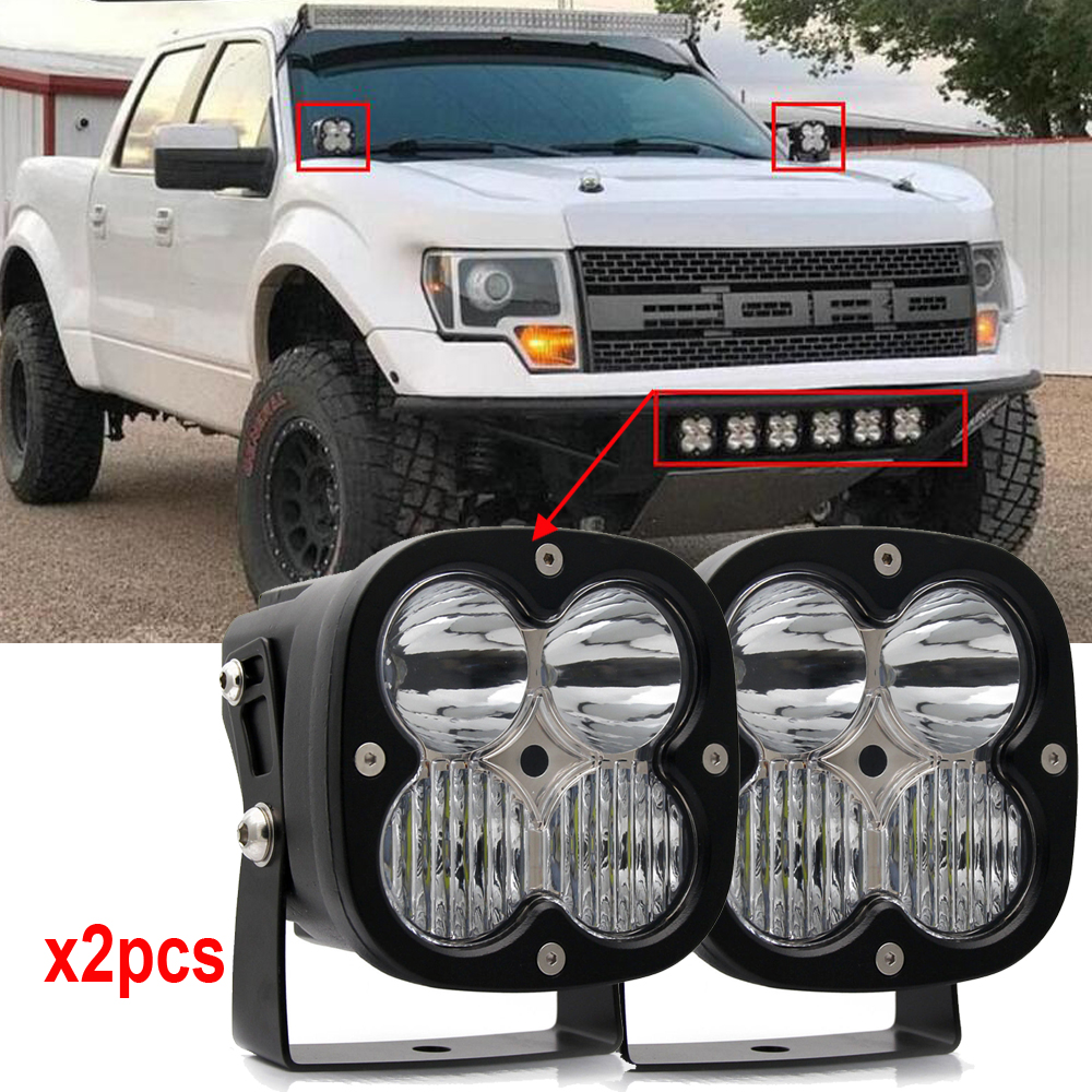 Pair of 12v 24v Off road 40W Combo beam 4leds LED WORK LIGHT AUTO SUV 4X4 TRUCK ATV 4WD 4WD MOTORCYCLE TRACTOR led driving light sufemotec 5d 14 22 32 42 52 500w led light bar straight combo beam driving lamps for off road truck 4x4 4wd suv atv
