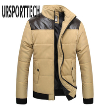 Plus Size M-5XL New Mens Winter Jacket Men Warm Coat Splicing Cotton Padded Outerwear Brand Clothing Thick Coat Male Down Parkas down jacket m 5xl 108