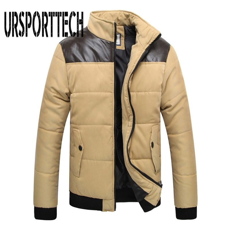 Plus Size M 5XL New Mens Winter Jacket Men Warm Coat Splicing Cotton Padded Outerwear Brand Clothing Thick Coat Male Down Parkas