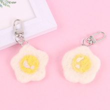 Ins stylish key chain woman made of felt, crocheted, keychains with a smiley, keyring-star, pendant, ornament, pendants car