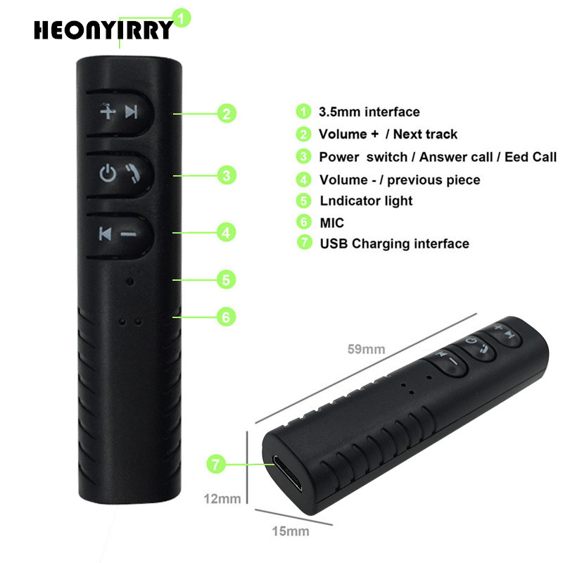 HEONYIRRY Bluetooth Receiver 3.5mm Jack