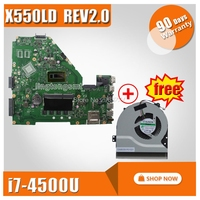 For Asus X550LD X552L X550LC A550L Y581L X550L K550L DX992L X550LA motherboard X550LD REV2.0 Mainboard With i7 100% tested