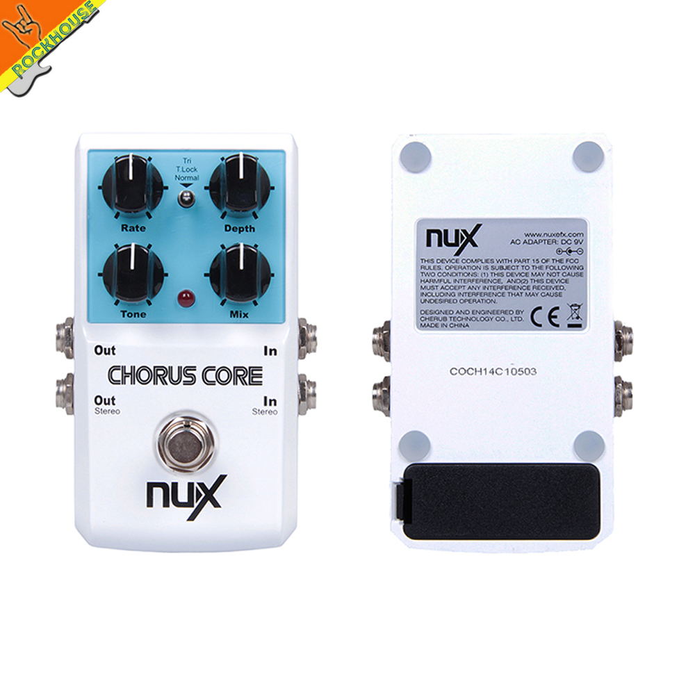 NUX Chorus Core Digital Guitar Chorus Effects Pedal 2 Types with Tone Lock warm and smooth like Analog Chorus Free Shipping mooer ensemble queen bass chorus effects pedal