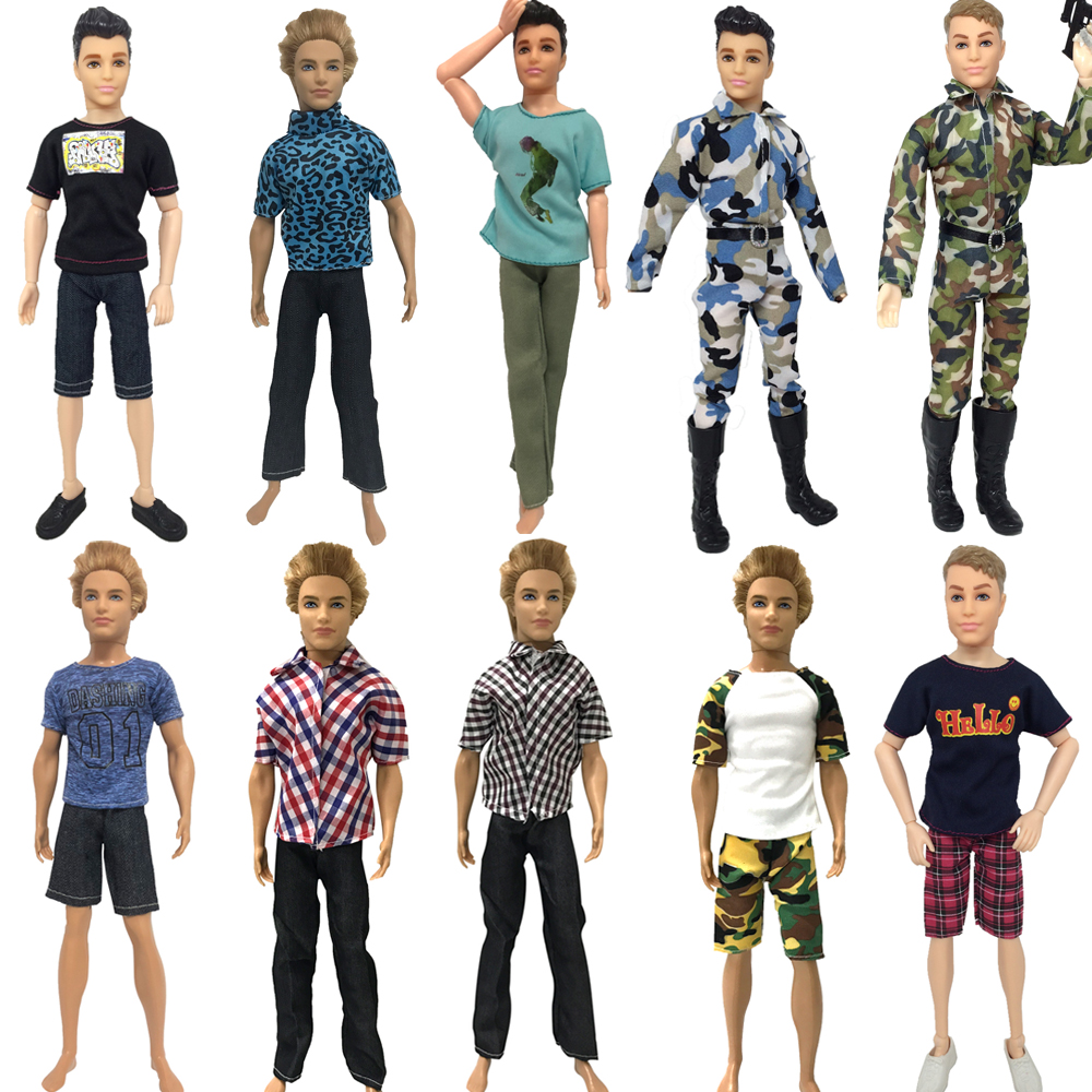NK   Doll Prince Clothes Fashion Suit Cool Outfit For KEN Doll Accessories Children's Birthday Presents Gift Baby DIY Toys JJ