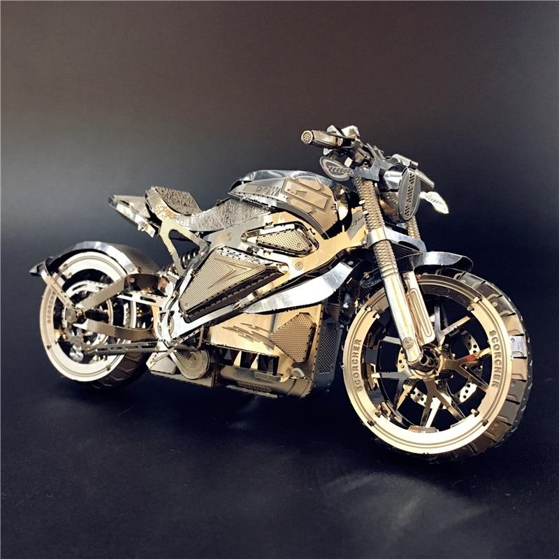 MMZ MODEL NANYUAN 3D Metal Puzzle Vengeance Motorcycle Collection Puzzle 1:16 L DIY 3D Laser Cut Model Puzzle Toys For Adult