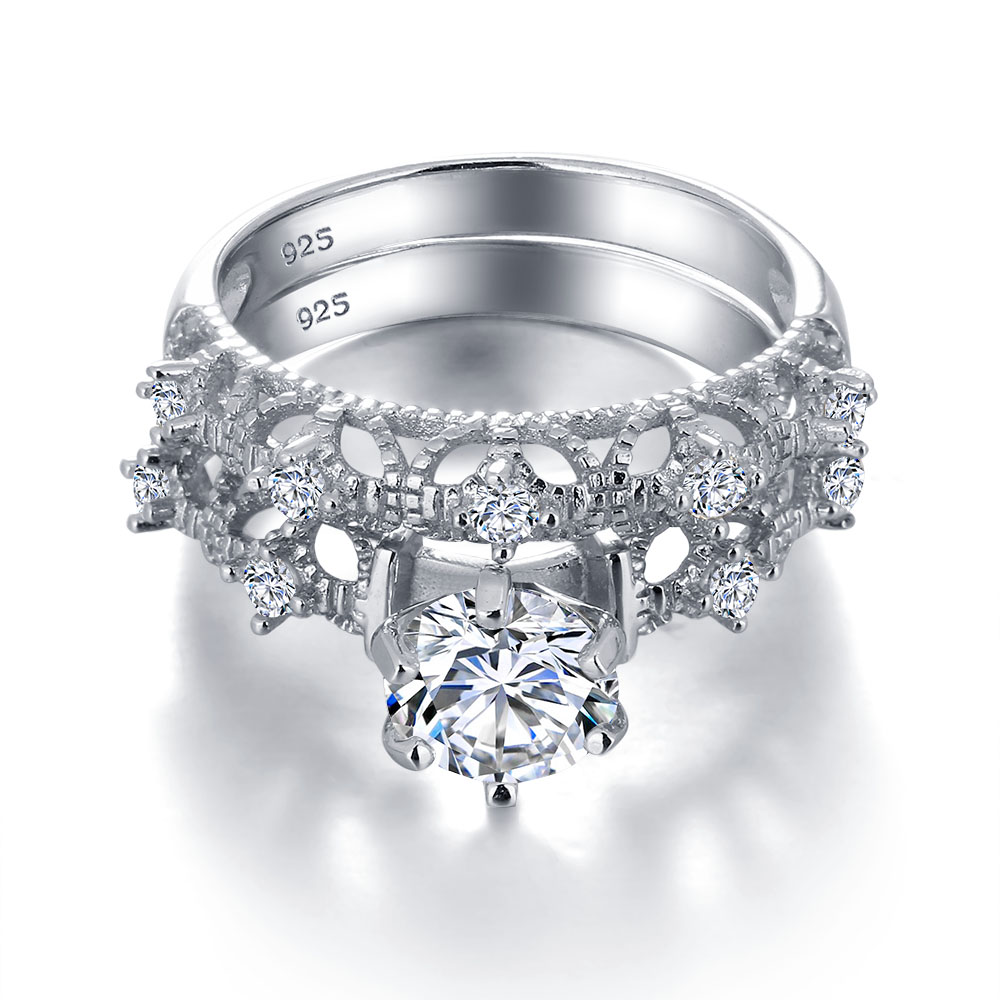 Aliexpresscom Buy Luxurious Wedding Ring Bridal Sets 925