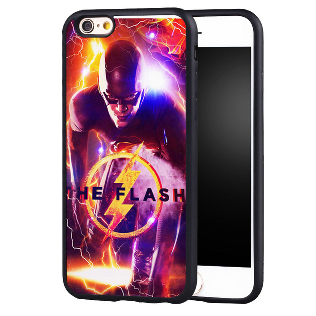 buy online 35912 c31bb US $4.99 |Reboto Superheroes The Flash Barry Allen Tv Series case Cover For  iPhone 5 5C SE 6 6S 7 Plus-in Fitted Cases from Cellphones & ...